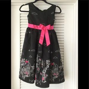 Rare Editions Paris Print Dress